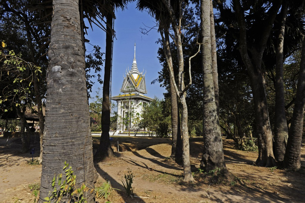 The Memorial Stupa erected at the entrance where victims remains are reverently preserved.