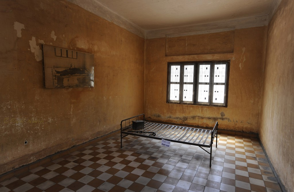One of several school classrooms converted for torture.