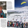 Australian Geographic photo Snowy mountains paragliding Sami chairlift sking outdoor sport recreation