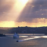 Corporate photo cruise liner cruise ship harbour god light sunrise Sydney harbour