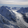 Stock photo mountains aerial glacier scenic Southern Alps snow ice South Island New Zealand